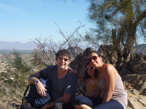 morar em Phoenix: Flávia e a família