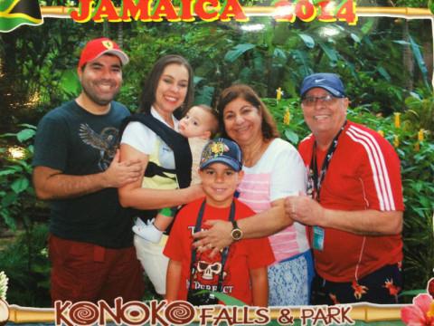 Foto de família na Jamaica