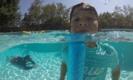 Fotografando na piscina: Telesin Dome