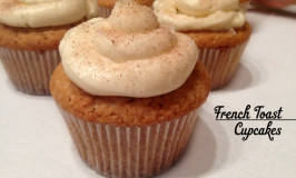 French Toast Cupcake: bolinho com canela, baunilha e maple