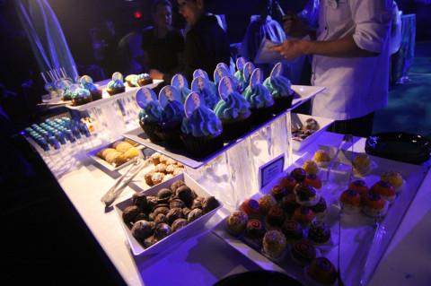 Uma das mesas de sobremesas da Frozen Dessert Party