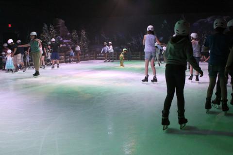 A pista de patinação de Frozen Funland