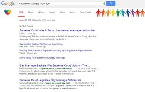 O Google também enfeitou a sua busca
