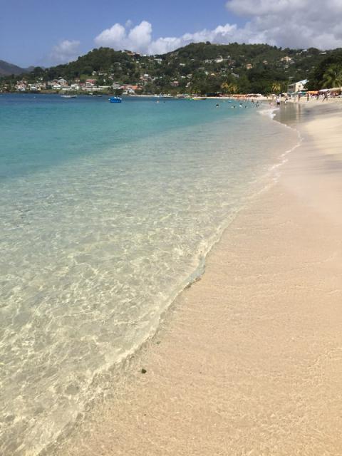 Praia de Grand Anse em Grenada
