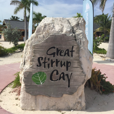 Chegando em Great Stirrup Cay, a ilha da Norwegian nas Bahamas