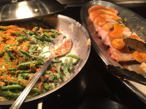 Green beans (vagem macarrão) e lombo de porco