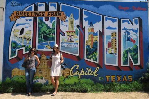 Greetings from Austin, cartão postal que virou mural