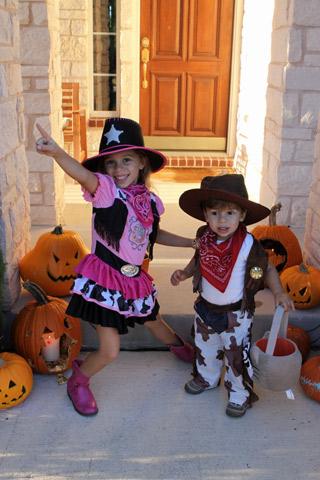 Meus cowboys no Halloween 2013