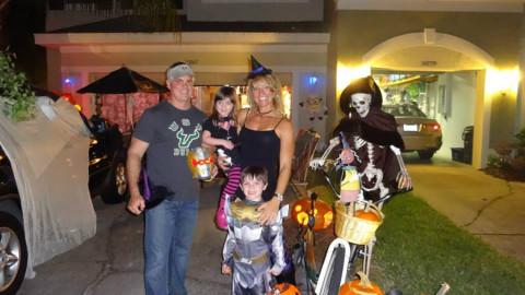 Nós no Halloween em Tampa