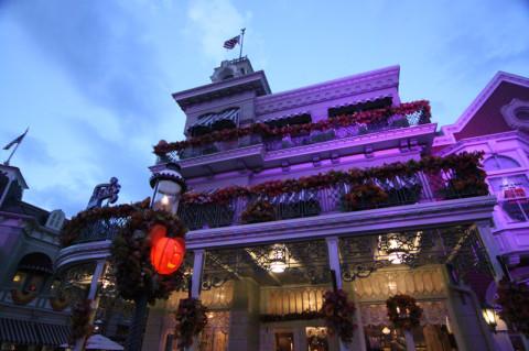 Main Street estava ainda mais bonita com a iluminação especial