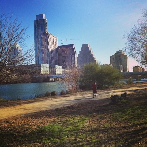 Hike and Bike Trail em downtown Austin