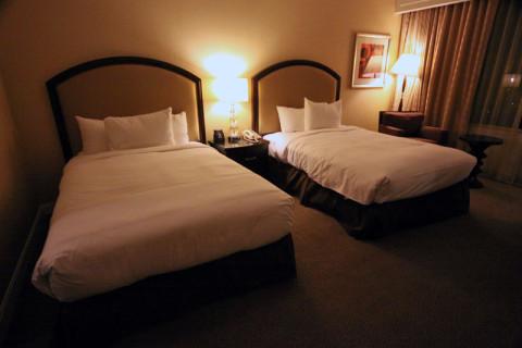 Nosso quarto no Hilton Atlanta, ótimo hotel em downtown