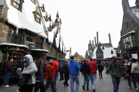 Andando por Hogsmeade no Wizarding World of Harry Potter