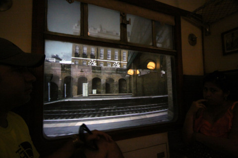 Vista da janela saindo de King's Cross Station