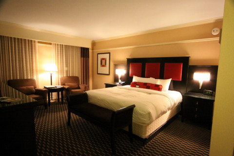 Nosso quarto no Hotel Blake em Chicago