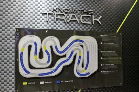 Mapa da pista do kart no iDrive NASCAR em Orlando