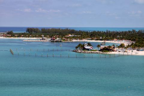 A ilha da Disney nas Bahamas é um paraíso