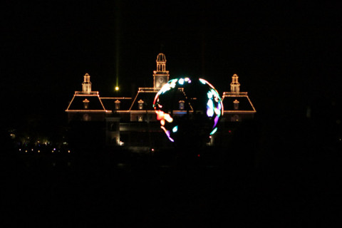 O Globo iluminado do show IllumiNations