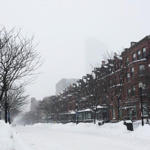 Inverno em Boston: muitas nevascas