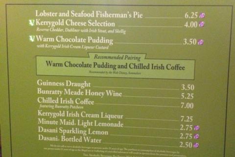 Menu da Irlanda