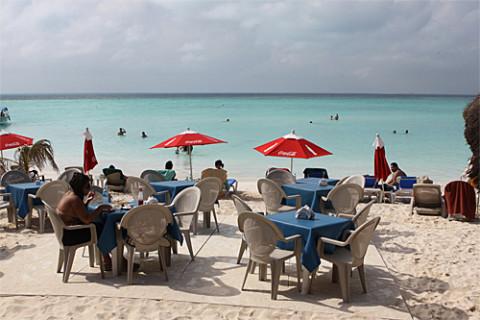 Praia em Isla Mujeres