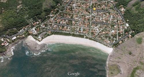 Vista aérea de Itacoatiara, imagens do Google Earth