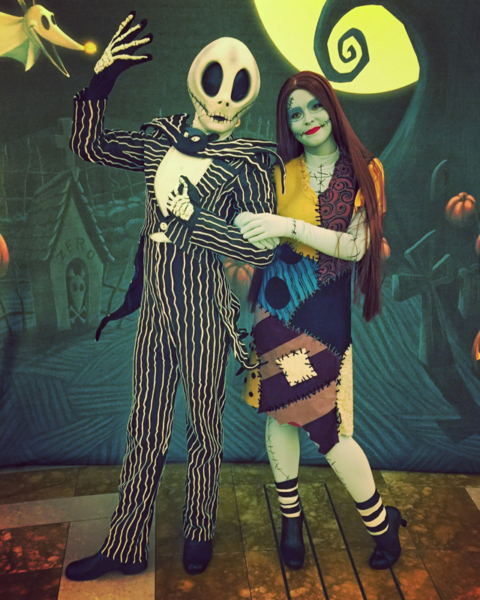 Jack e Sally no Halloween do Disney Dream