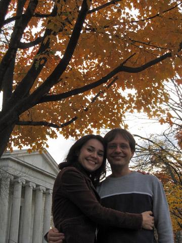 Janaina e o marido em Princeton, Nova Jersey
