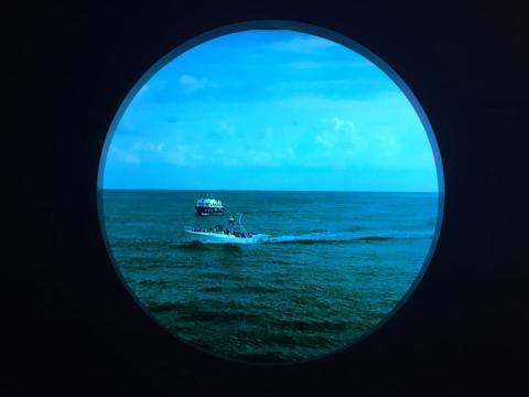 Magical Porthole durante o dia, mostrando a vista em Cozumel