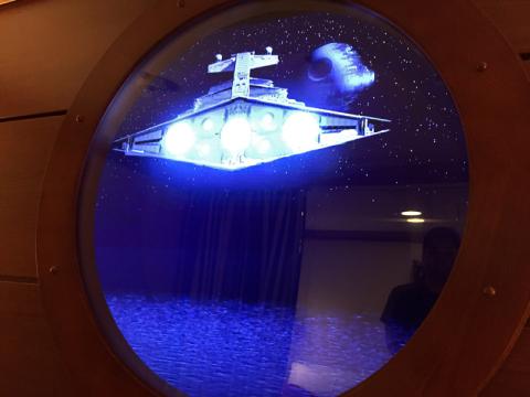 Esse Imperial Star Destroyer também apareceu no dia Star Wars