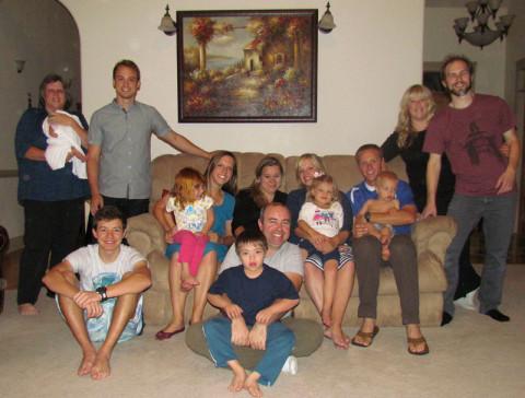 Jantar com a família americana