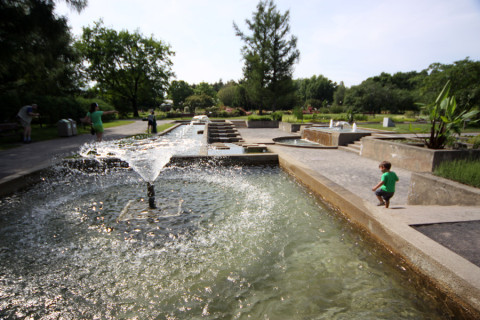 Fontes no Jardim Aquático do Jardim Botânico de Montréal