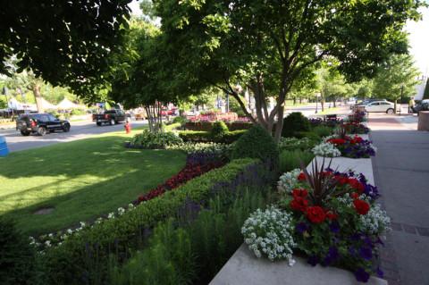 Os jardins são maravilhosos
