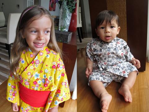 Julia e Eric com suas yukatas