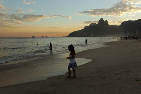 Praia de Ipanema – um final de tarde de cartão postal
