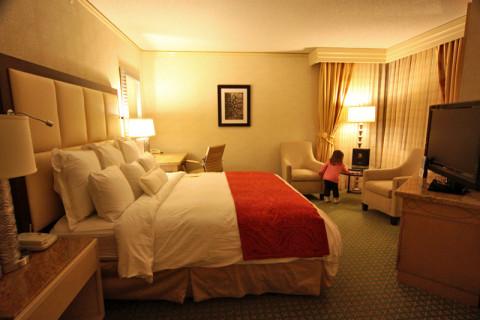 Nosso quarto no hotel JW Marriott em New Orleans