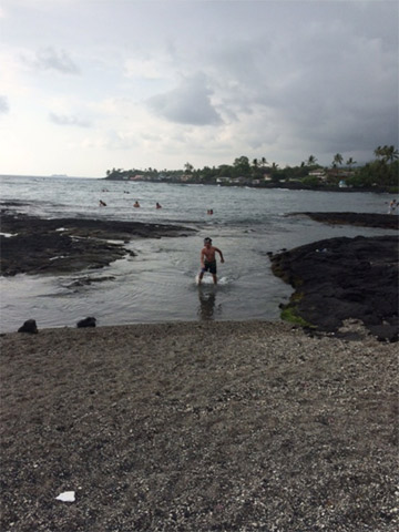 Kahaluu Bay Beach, boa pra snorkel