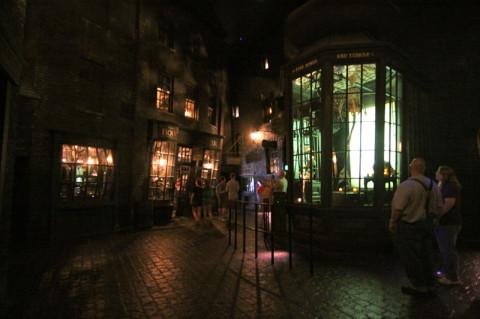 Knockturn Alley e a Borgin and Burkes, sombria