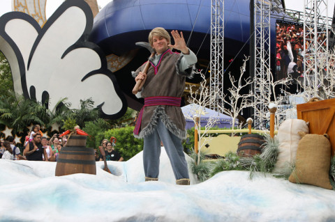 Kristoff chegando no Hollywood Studios