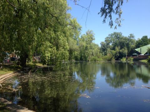 Esse lago fica na frente do Centreville