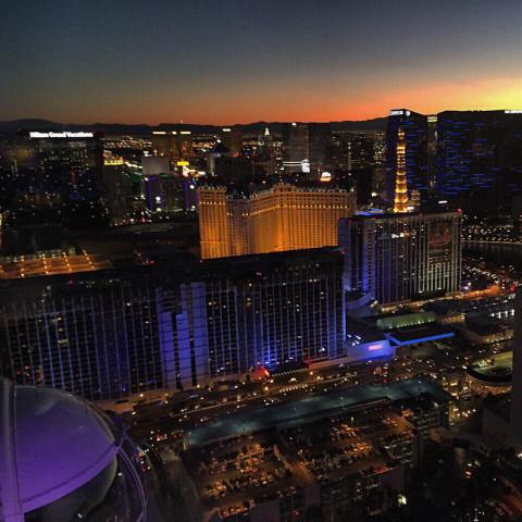 Vista de Las Vegas da High Roller