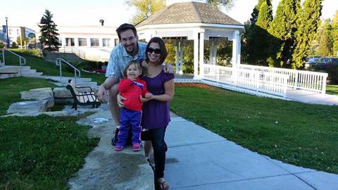 Família Frank em Lake Orion, Michigan