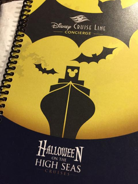 O livrinho da Disney que chega com as informações gerais do cruzeiro e as etiquetas de mala