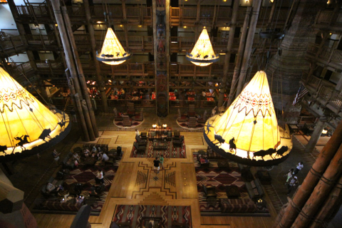 O lobby visto de cima