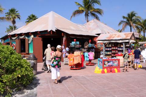 A primeira loja em Castaway Cay