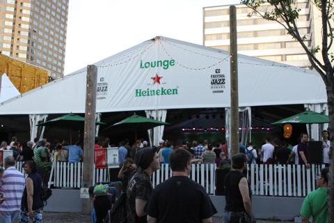 O Lounge da Heineken, que também tinha shows