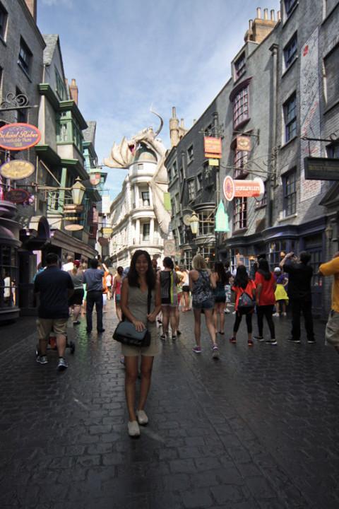 Eu em Diagon Alley - Beco Diagonal no Wizarding World of Harry Potter