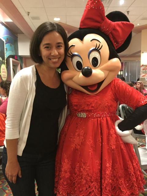 Eu e a Minnie da segunda vez que ela passou