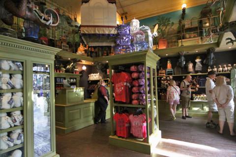 Interior da loja Magical Menagerie no Beco Diagonal