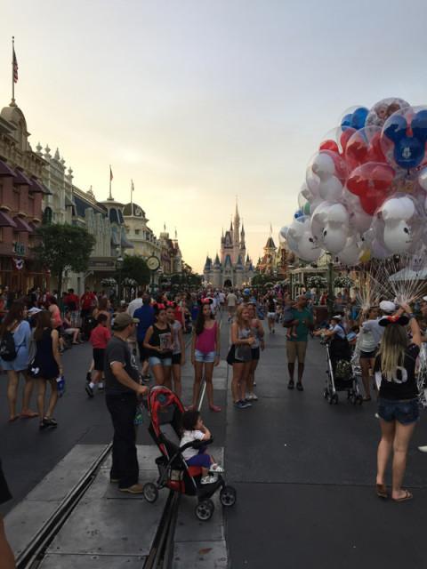 Magic Kingdom em julho, no final da tarde